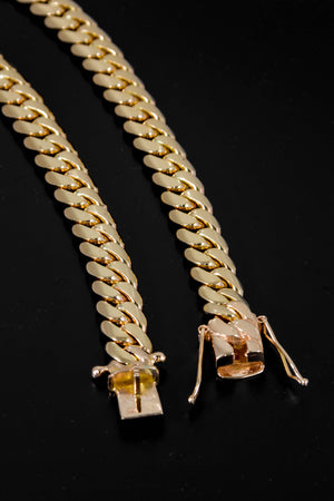 "14k Yellow Gold Miami Cuban Link Chain 26"" 9.5mm"