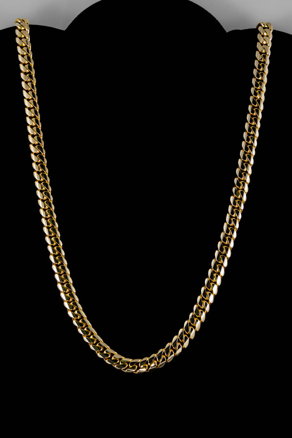 "14k Yellow Gold Miami Cuban Link Chain 26"" 8.4mm"