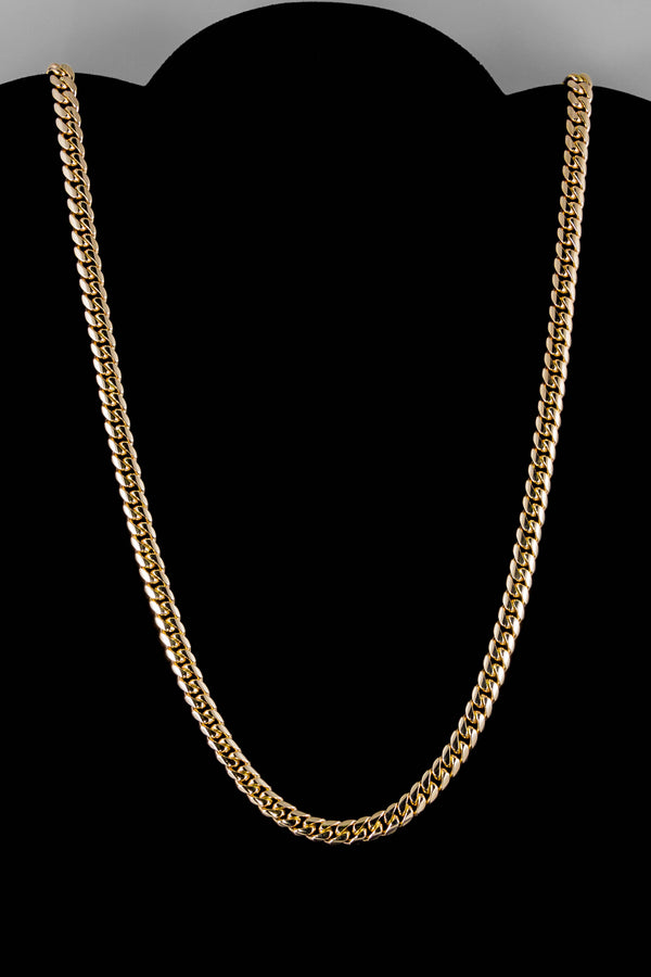 "14k Yellow Gold Miami Cuban Link Chain 26"" 6.4mm"