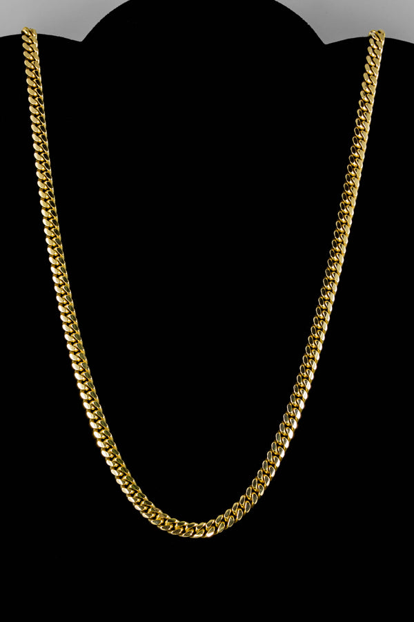 "14k Yellow Gold Miami Cuban Link Chain 26"" 5.7mm"