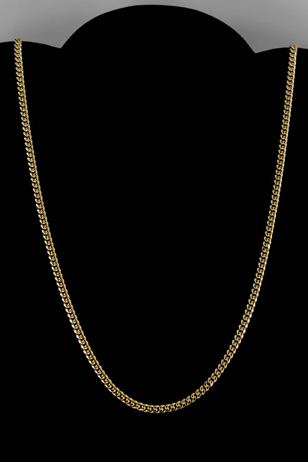 "14k Yellow Gold Miami Cuban Link Chain 24"" 3.6mm"