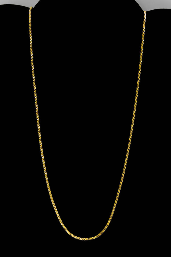 "14k Yellow Gold Miami Cuban Link Chain 20 ½"" 1.7mm"