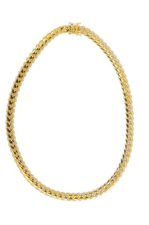 "14k Yellow Gold Miami Cuban Link Chain 25"" 12mm"