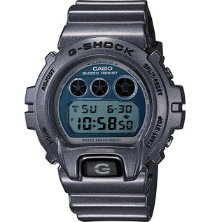 G-Shock Men's Digital Blue Resin Strap Watch 50x53mm DW6900MF-2