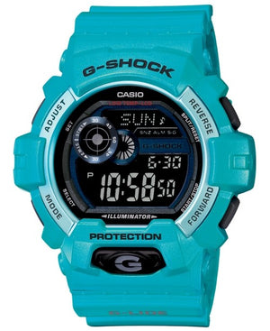 G-Shock Men's Digital Blue Resin Strap Watch 55x53mm GLS8900-2