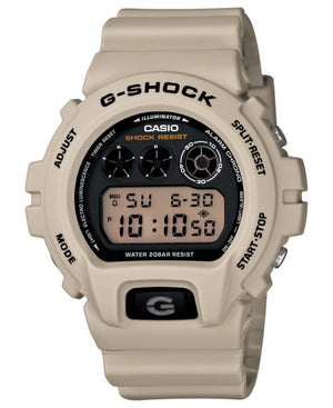 G-Shock Men's Digital Beige Resin Strap Watch 50x53mm DW6900SD-8