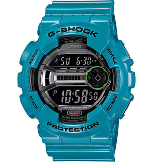 G-Shock Men's Digital Blue Resin Strap Watch 51x55mm GD110-2