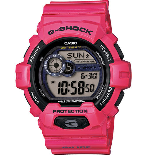 G-Shock Men's Digital Pink Resin Strap Watch 55mm GLS8900-4