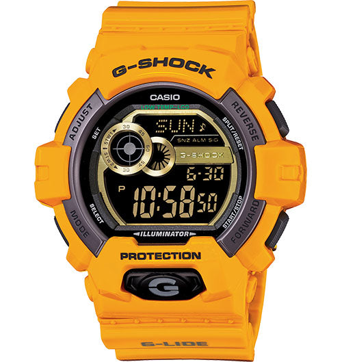 G-Shock Men's Digital Yellow Resin Strap Watch 55x53mm GLS8900-9