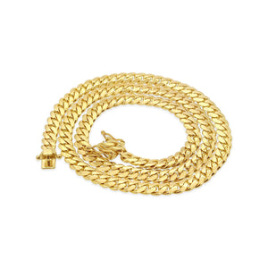 "14k Yellow Gold Miami Cuban Link Chain 25"" 7mm"