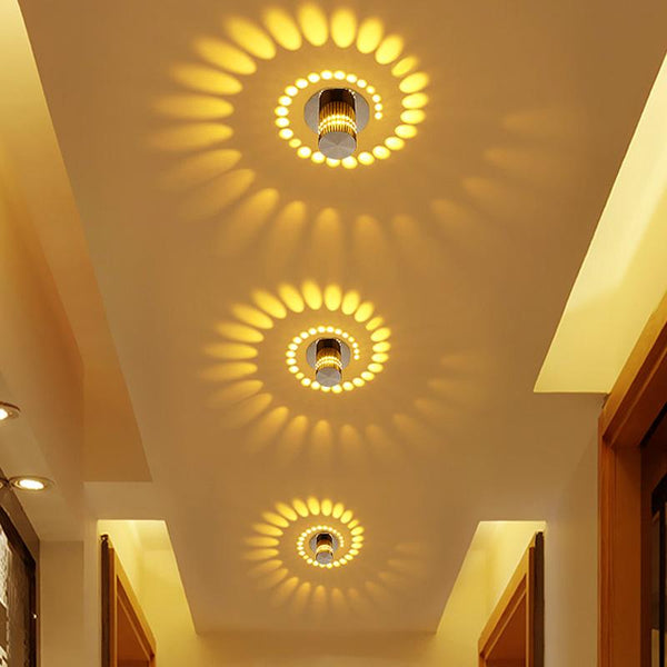 Modern Swirl LED Ceiling Light