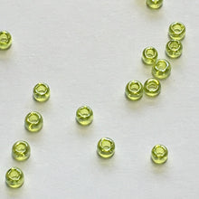 Load image into Gallery viewer, TOHO TR-11-105  11/0 Transparent Luster Lime Green Seed Beads, 5 gm