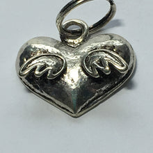 Load image into Gallery viewer, Antique Silver Heart with Wings Charm, 18 x 15 mm