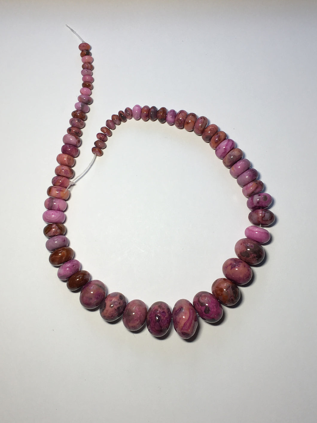Purple Crazy Lace Agate Rondelles, Semi-Precious Stone Beads, 6-16 mm, 16-Inch Strand, Ready-to-Make Necklace