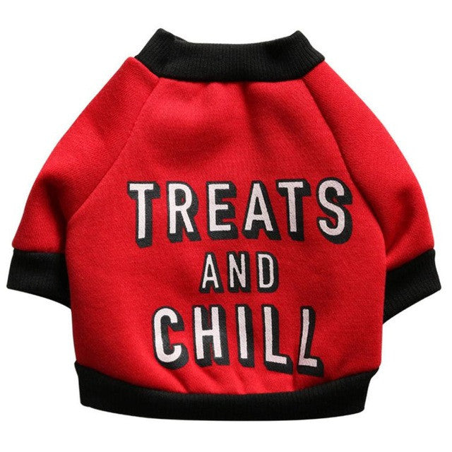 'Treats and Chill' Dog Jacket