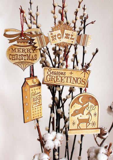 SET OF 5 CHRISTMAS ORNAMENT COLLECTION
