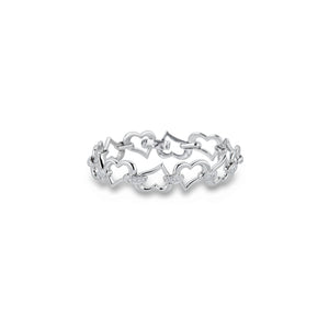Piaget 18K White Gold Diamond Heart Bracelet Length: 7""