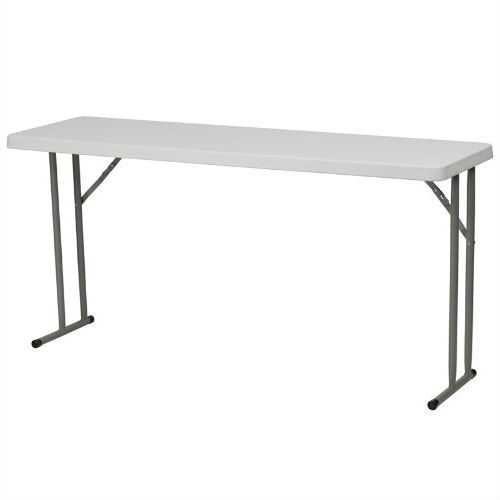 White Top Commercial Grade 60-inch Folding Table - Holds up to 330 lbs