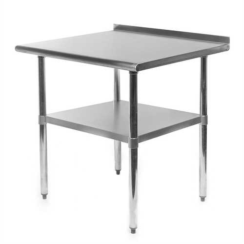 Heavy Duty 30 x 24 inch Stainless Steel Restaurant Kitchen Prep Work Table with Backsplash