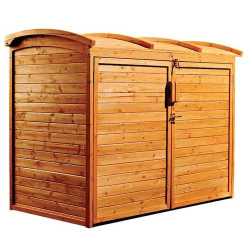 Outdoor 34-inch x 62-inch Wooden Storage Shed with Lockable Doors