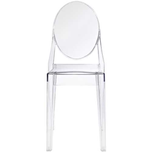 Stackable Clear Acrylic Dining Chair for Indoor or Outdoor Use