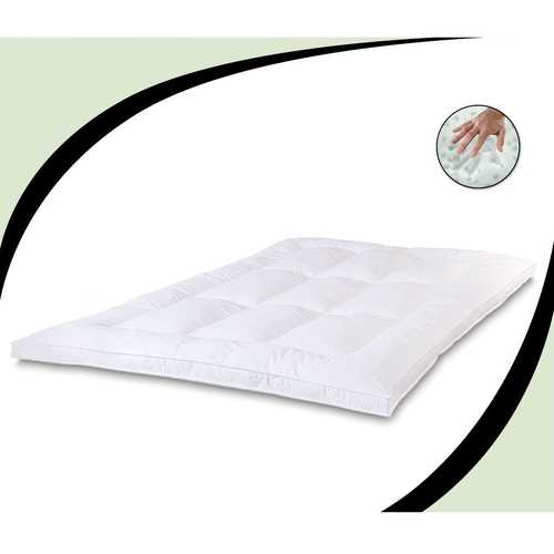 Queen size 2.5-inch Thick Mattress Topper with Memory Foam and Fiber Fill