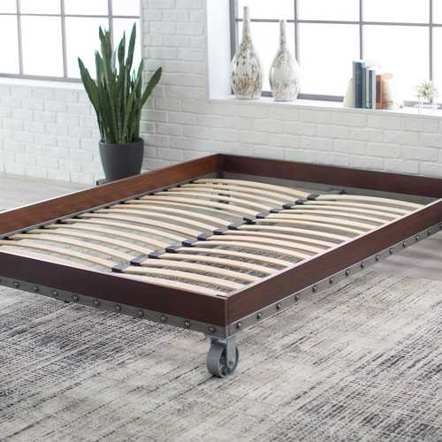 Twin size Heavy Duty Industrial Platform Bed Frame on Casters