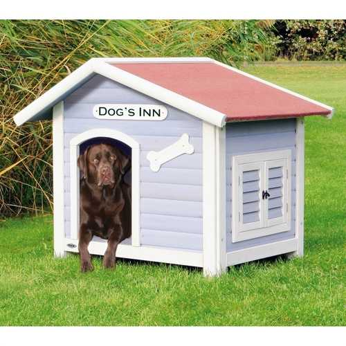 Solid Pine Wood Weatherproof Dog House with Adjustable Feet
