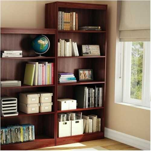 Five Shelf Eco-Friendly Bookcase in Royal Cherry Finish