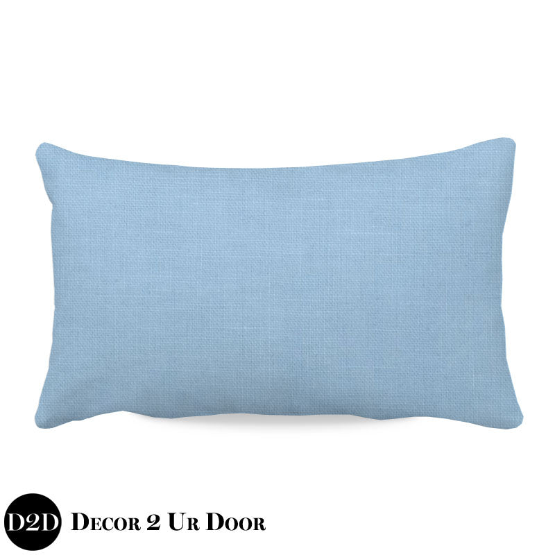 Solid Baby Blue Lumbar Nursery Throw Pillow Cover