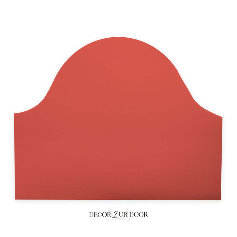 Solid Coral Padded Fabric Headboard
