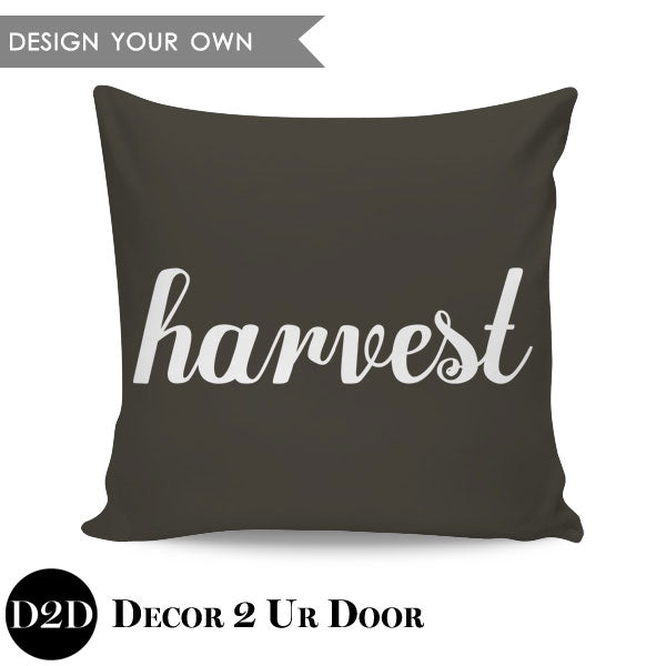 Harvest Square Throw Pillow Cover