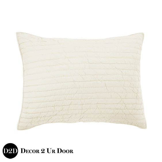 Solid Ivory Quilted Sham