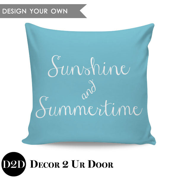 Sunshine & Summertime Square Throw Pillow Cover