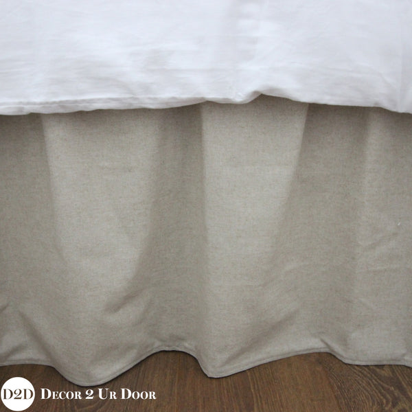 Solid Tan Extra Long Dorm Bed Skirt