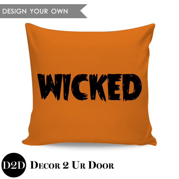 Wicked Square Throw Pillow Cover