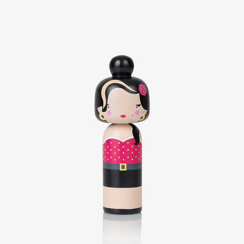 Sketch Inc for Lucie Kaas Kokeshi doll Amy Winehouse