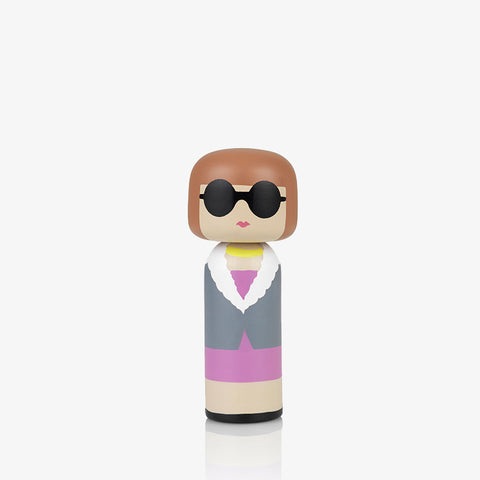 Sketch Inc. for Lucie Kaas modern wooden kokeshi doll as Anna Wintour