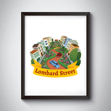 Load image into Gallery viewer, Lombard Street Art Print