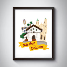 Load image into Gallery viewer, Mission Dolores Art Print