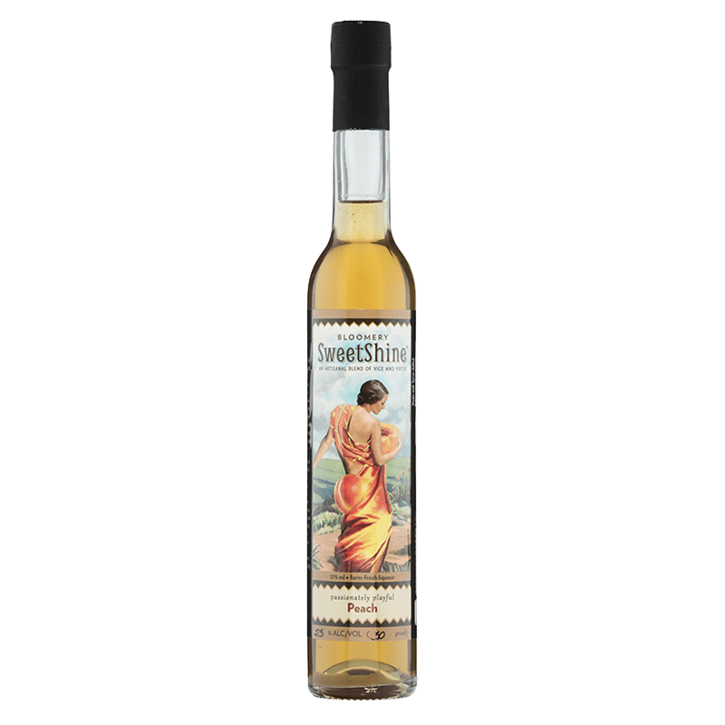 Bloomery SweetShine Peach Cocktail Liqueur 375mL buy online great american craft spirits