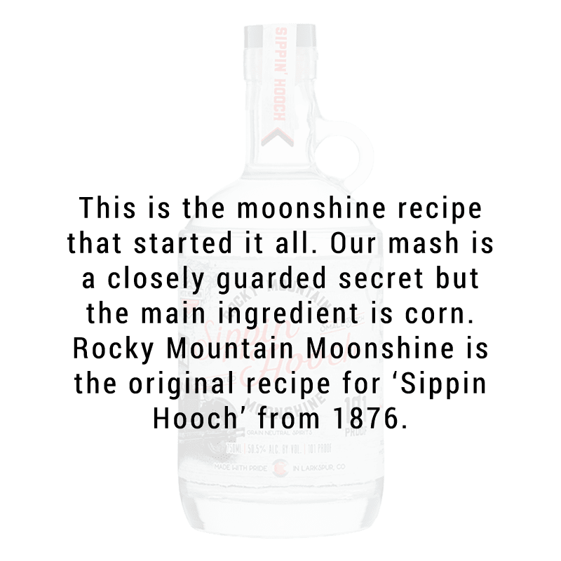 Mystic Mountain Rocky Mountain Moonshine - 'Sippin Hooch' - 101 Proof 750mL