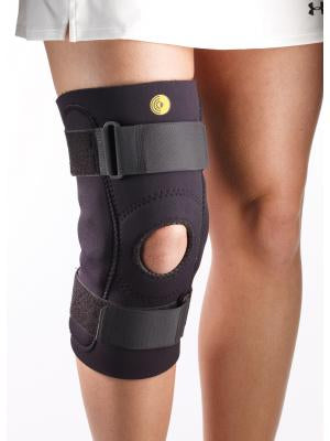 Hinged Knee Sleeve Open Pop/Open Pat