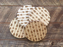 Arrows Wood Coaster Set