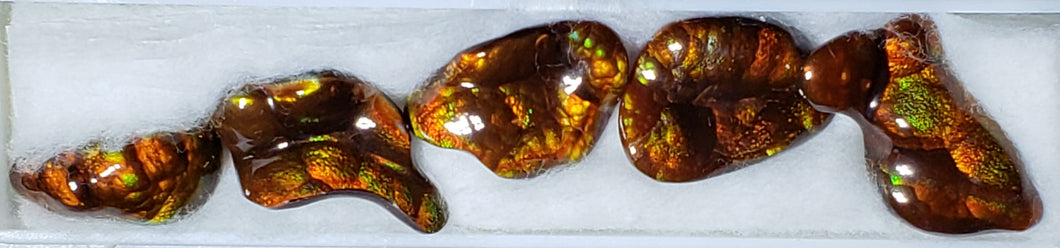 Fire Agate suite of 5