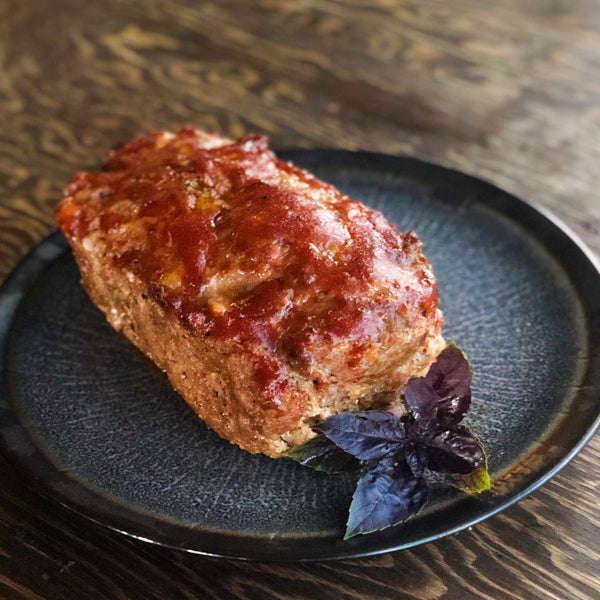 KETO BISON AND PORK MEATLOAF