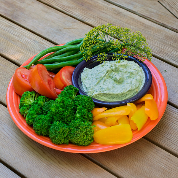 KETO CRUDITES WITH RANCH DIP