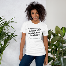 Load image into Gallery viewer, #prochoicevax - Short-Sleeve Unisex T-Shirt