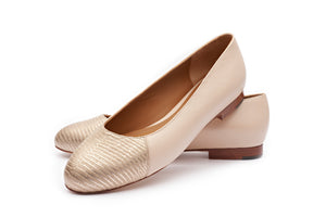 Jessica in Classic Panna and Embossed Gold Lizard