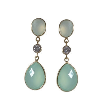 Aqua Earrings Statement Drop Earrings